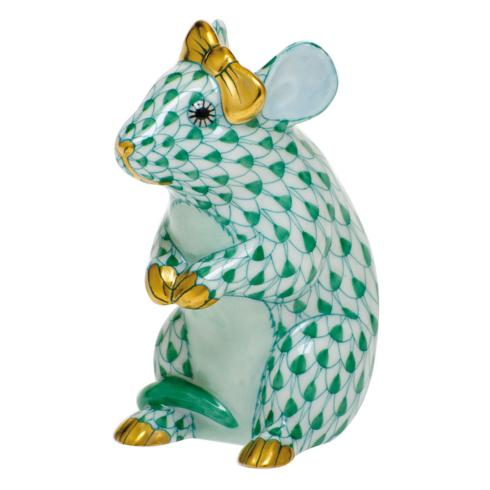 $295.00 Mouse with Bow-Green