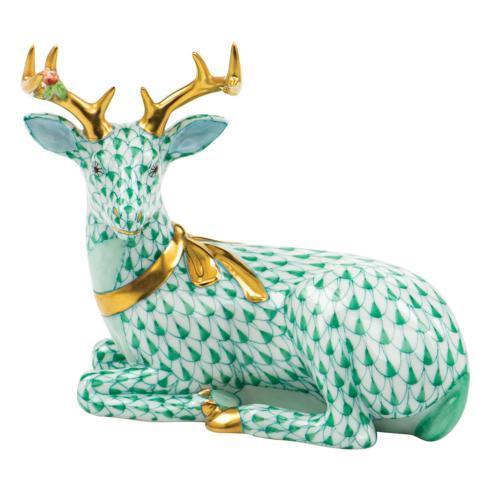 $575.00 Lying Christmas Deer-Green