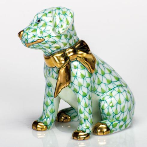 Herend Figurines Dogs Doggie Dazzle - Key Lime $285.00