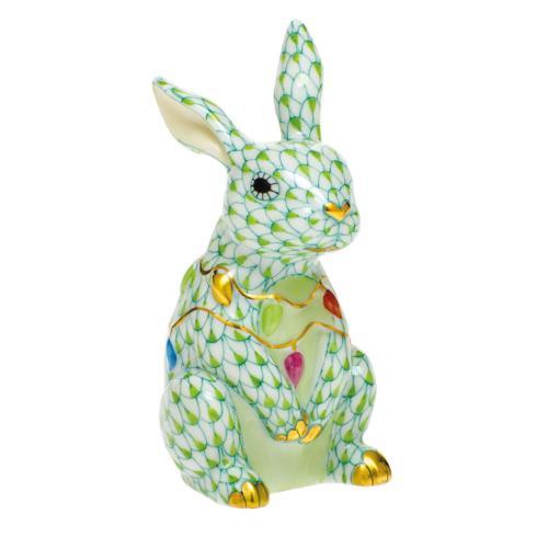 $385.00 Bunny with Christmas Lights-Key Lime