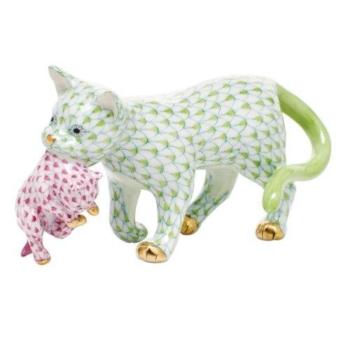Herend Figurines Cats Motherly Love  $465.00