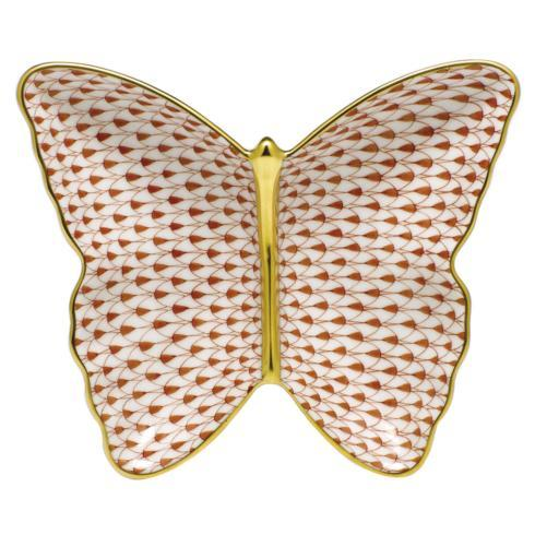 Butterfly Dish - Rust