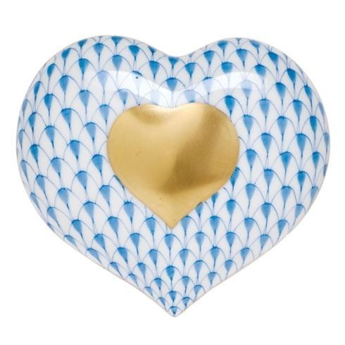 Herend Figurines Miscellaneous Heart of Gold - Blue $185.00