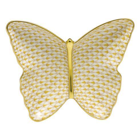 $285.00 Butterfly Dish - Butterscotch
