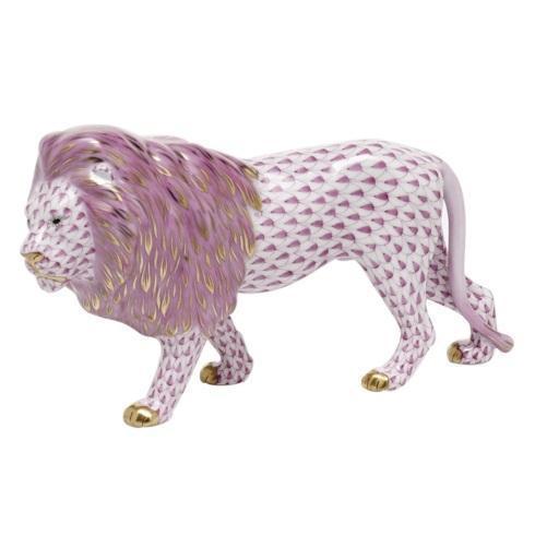 $615.00 Standing Lion -  Raspberry
