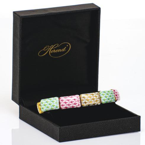 $395.00 10 Link Bracelet Lime + Pink