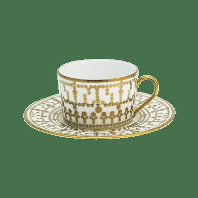 Haviland  Tiara White & Gold Teacup & Saucer $332.00