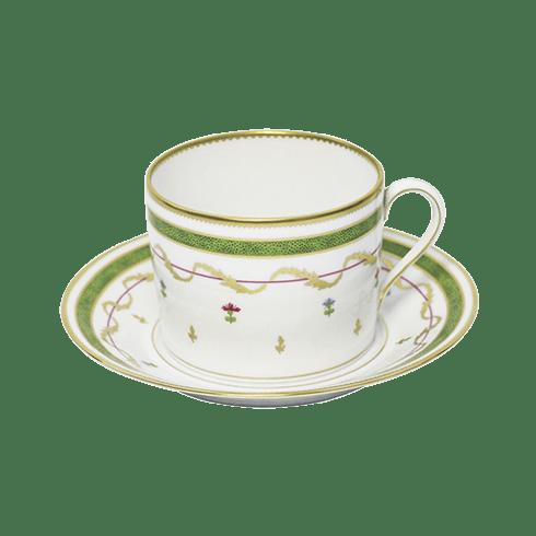 Haviland  Vieux Paris Vert Cappuccino Cup & Saucer $265.00