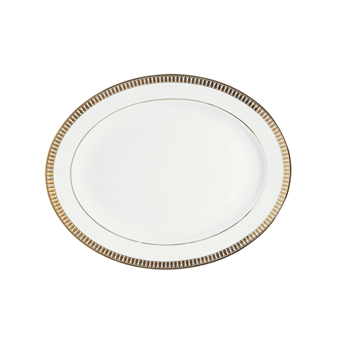 Haviland  Plumes Gold Small Oval Dish $390.00
