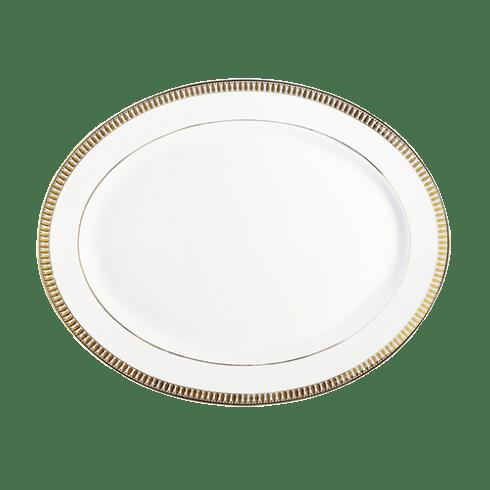 Haviland  Plumes Gold Large Oval Dish $445.00