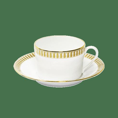 Haviland  Plumes Gold Teacup & Saucer $135.00