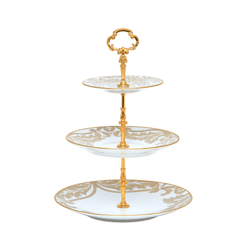 Haviland  Damassé Ritz Paris 3 Tier Cake Plate $520.00