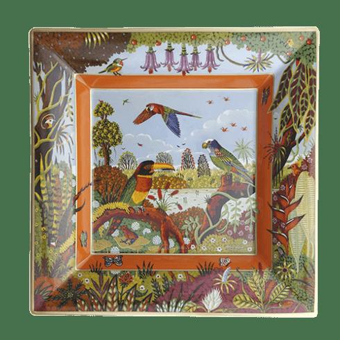 $950.00 Large Alain Thomas Amazonian Toucan Tray