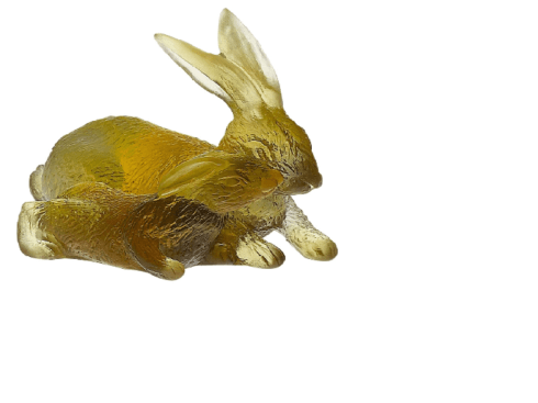 Daum  Animal Sculptures - Rabbit