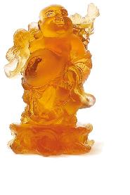 Amber Standing Buddha
