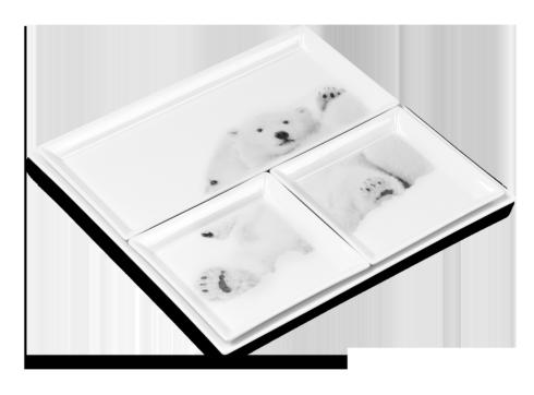 $439.00 Set of 4 Trays - Emotion Arctique