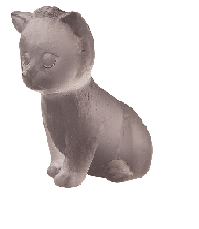 Grey Sitting Mini Kitten