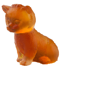 $209.00 Amber sitting mini kitten