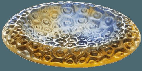 Small blue amber bowl
