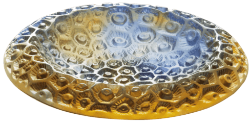 $1,340.00 Small blue amber bowl