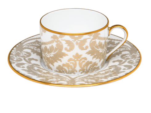 $203.00 Tea cup and Saucer Gold
