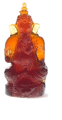 Dark Amber Ganesha