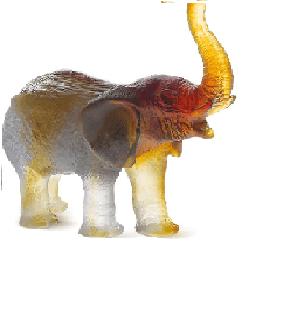 $935.00 Green Amber Elephant
