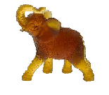 $490.00 Amber Elephant