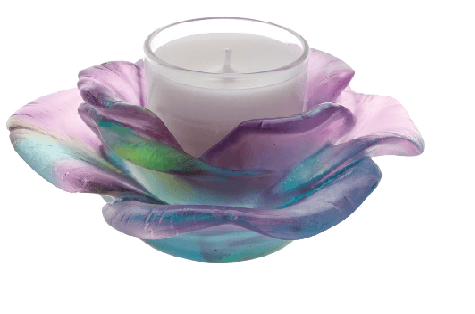 $500.00 Green pink candle holder