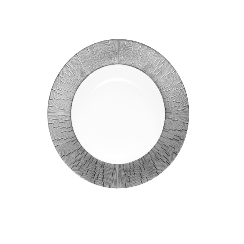 Infini platinum soup plate