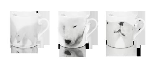 $327.00 Set of 3 Mugs - La Sieste + Just A Kiss + Pushing Mummy