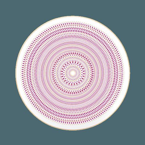 $77.00 Magnolia dessert plate geometric