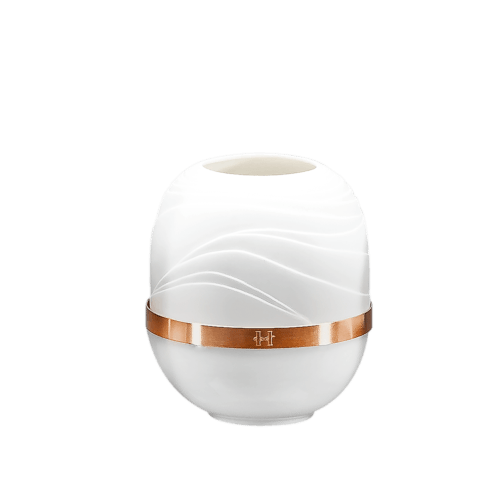 $115.00 Medium Dune Candle Holder with Golden Band