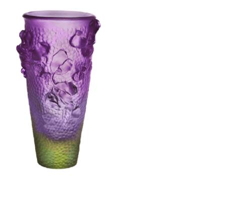 Purple Green Tall Vase