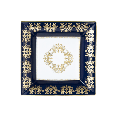 $1,280.00 Large Ritz Imperial Tray - Furnace Blue/White Background