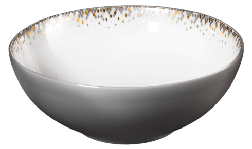 $105.00 Cereal bowl with eclipse grey on the exterior