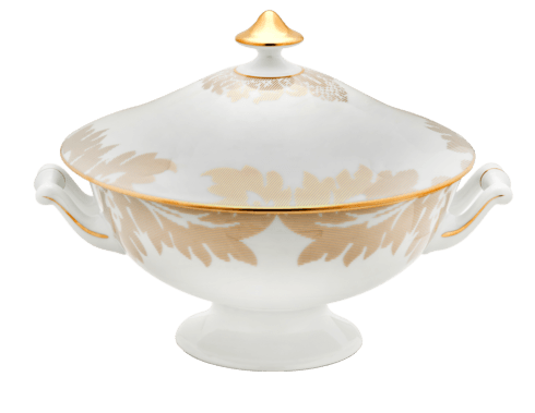 $1,444.00 Soup Tureen Gold
