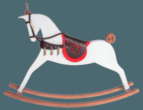 $554.00 Iena - White matt rocking horse