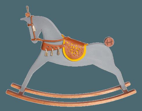 $554.00 Nickel - Grey matt rocking horse