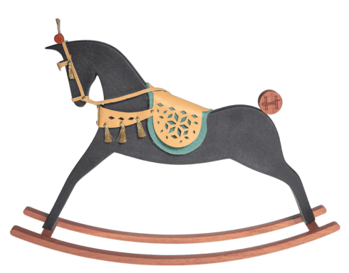 $554.00 Aboukir - Black matt rocking horse