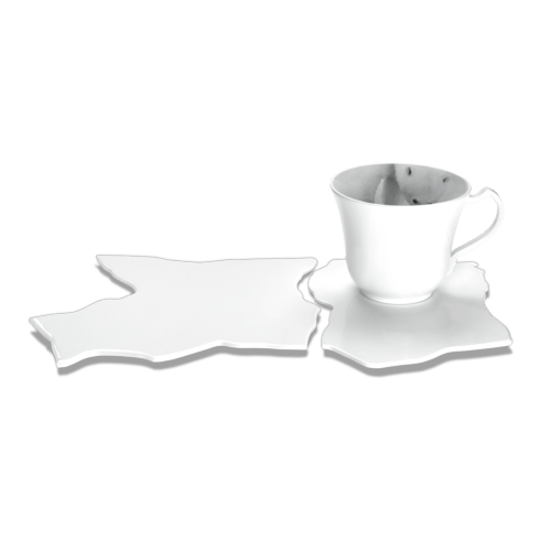 $685.00 Cappuccino Cup & Saucer on Sea Ice - Numbered Edition