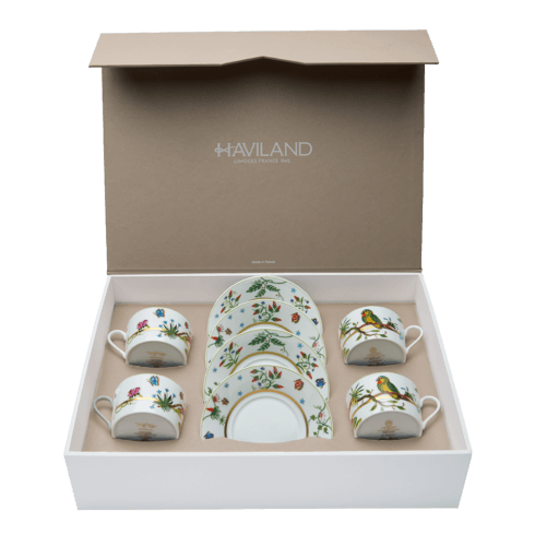$585.00 Set of 4 Teacups & Saucers