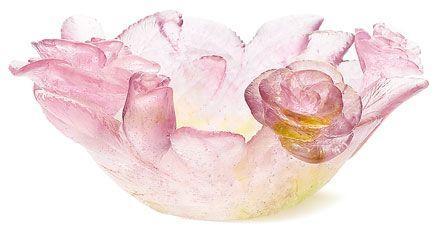 Daum Floral Roses Shallow Dish $446.00