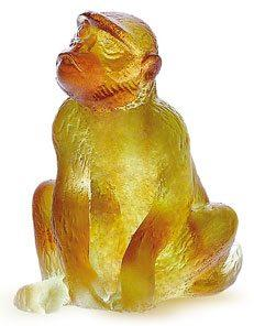$275.00 Green Amber Chinese Monkey