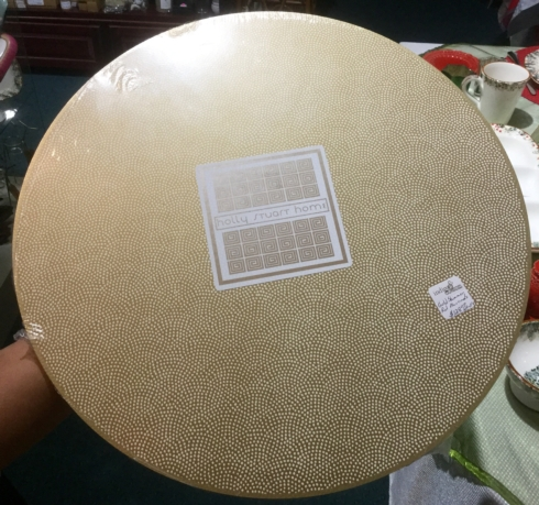 $128.00 Set of 4 Round Gold Shimmer Placemats