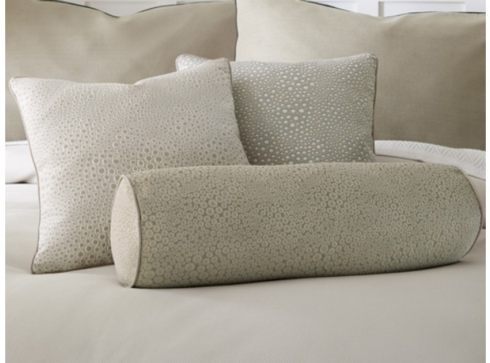 $145.00 Peacock Alley Platinum Oliver Oblong Decorative Pillow