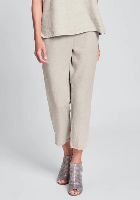 $75.00 Pocketed Ankle Pant - Natural