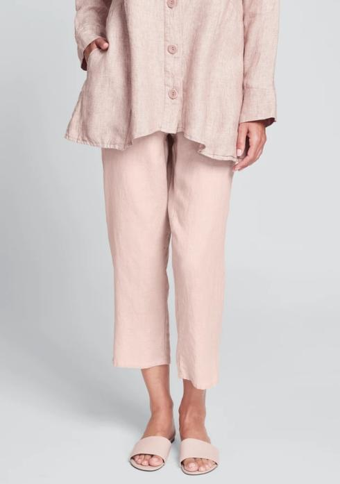 $80.00 Pocketed Ankle Pant - Blush