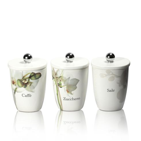 $167.00 Set of 3 Square Canisters