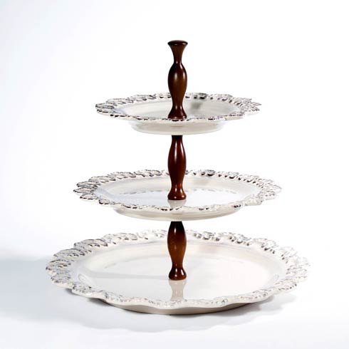 3-Tier Cake Plates 13 ...  sc 1 st  Domain XCIV - Bridge & Intrada Italy Cream products